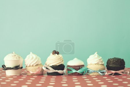 Photo for Various colorful cupcakes - Royalty Free Image