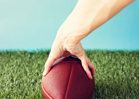 Football over grass