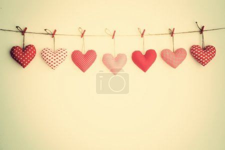 Lovely hearts hanging