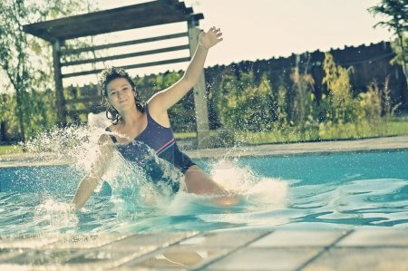 Photo for Girl in swimming pool - Royalty Free Image