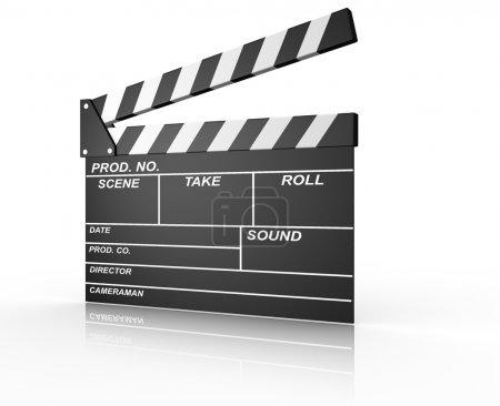 Opened clapperboard