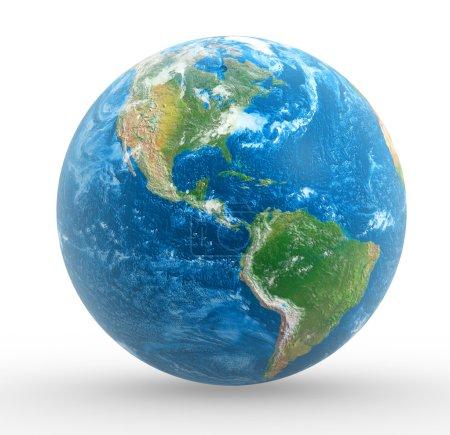 Photo pour Globe terrestre. Ceci est une illustration de rendu 3d - image libre de droit