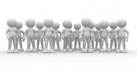 Photo pour 3d render illustration of business team on white background - image libre de droit
