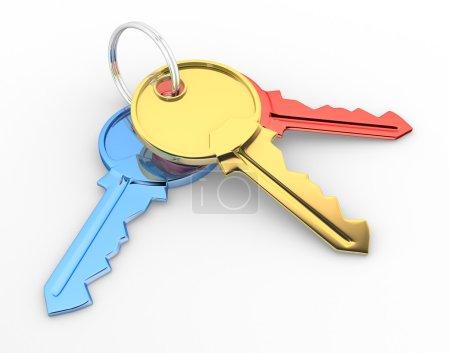 3d illustration of Keys