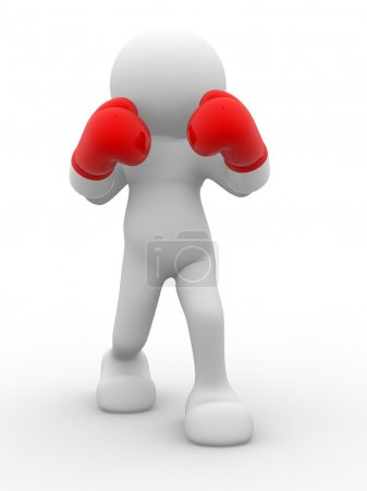 Person with boxing gloves