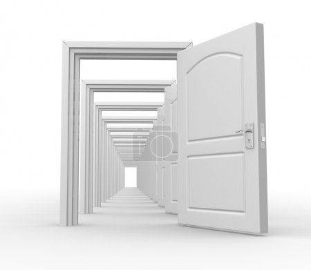 Photo pour Portes ouvertes - image libre de droit