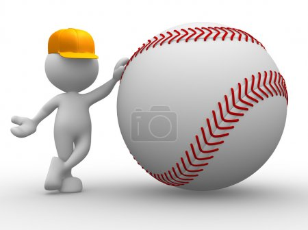 Man with a baseball ball