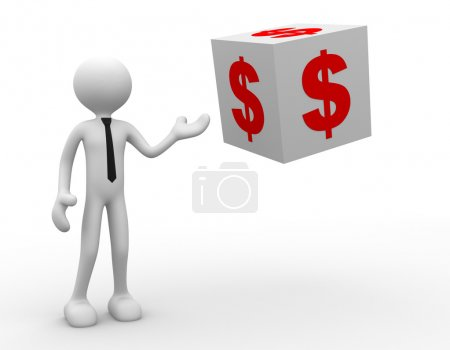 Person and dollar finance money currency