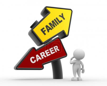 Person with Family and Career balance