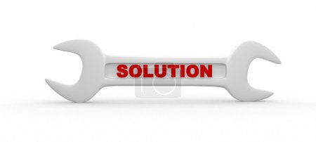 wrench with word Solution