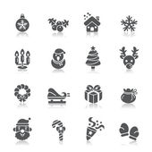 A collection of different kinds of Christmas element icons