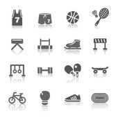 A collection of different kinds of sport icons