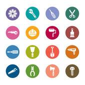 Construction Tools Color Icons