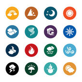 Different kinds of weather color icons