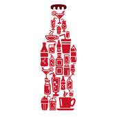 Drinks Icons in Bottle Shape