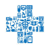 Medical Icons in Cross Shape