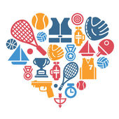 Sport Icons in Heart Shape
