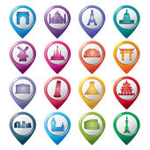 Famous Scenic Spots Pointer Icons