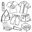 A collection of different kinds of clothing and ac...