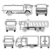 A collection of different kinds of transportation vehicle