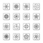 Flowers Doodle Icons