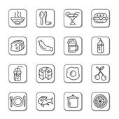 Food and Drinks Doodle Icons