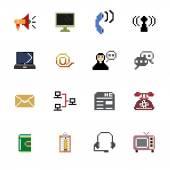 Communication Pixel Icons