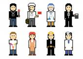 Pixel People Icons