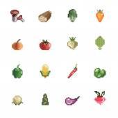 Vegetables Pixel Icons