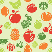 Different kinds of fast fruit icons in seamless background