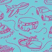 Transportation Toys Seamless Background