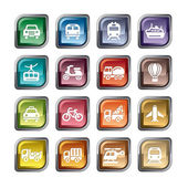 A collection of different kinds of transportation icons
