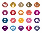 Agriculture and Fisheries Color Icons