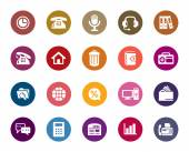 A collection of different kinds of Business and Communication Color Icons