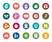 A collection of different kinds of Christmas element color icons