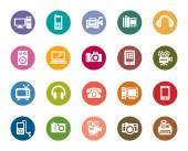 A collection of different kinds of Digital Products color icons