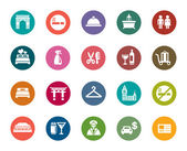 Hotel and Tourism Color Icons