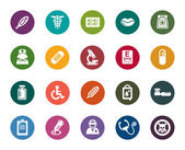A collection of different kinds of medical color icons