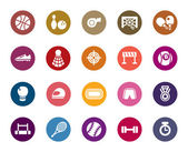 A collection of different kinds of sport competition color icons It contains hi-res JPG PDF and Illustrator 9 files