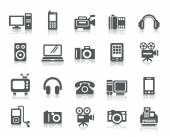 A collection of different kinds of Digital Products icons
