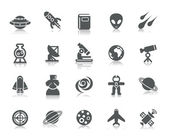 A collection of different kinds of space element icons