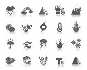 A collection of different kinds of weather icons