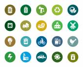 A collection of different kinds of environmental protection color icons