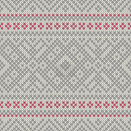 Knitted seamless geometric pattern. Vector background