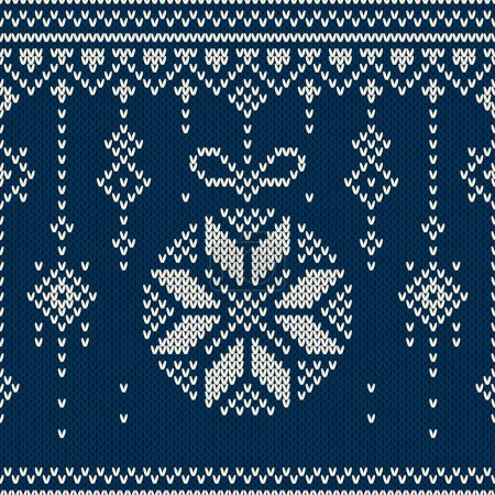 Christmas Background. Seamless holiday pattern on the wool knitted texture