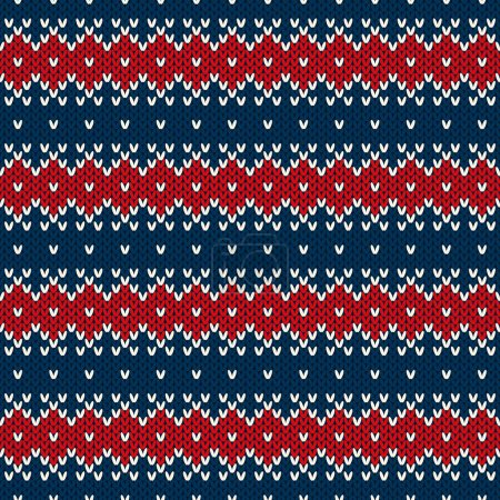 Winter Holiday Seamless Knitted Pattern