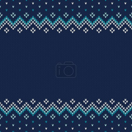 Illustration for Seamless Pattern on the Wool Knitted Texture. EPS available - Royalty Free Image