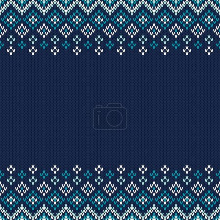 Traditional Fair Isle Style Seamless Knitted Pattern. Christmas