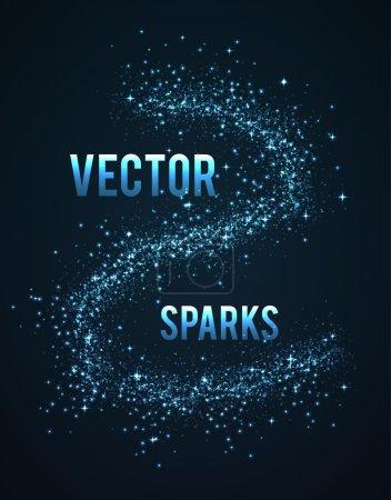 Blue sparks background
