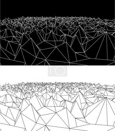 Illustration of white abstract background from pol...